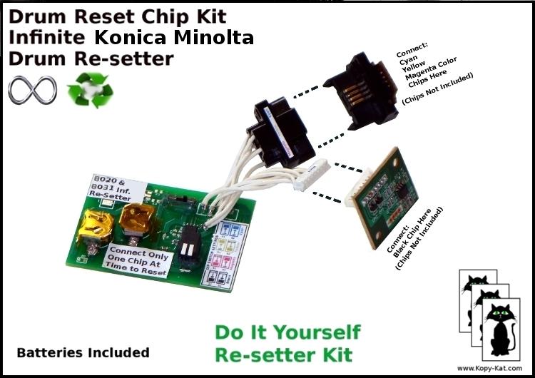 Konica Minolta 8020 8031 Infinite Reset Drum resetter Chip