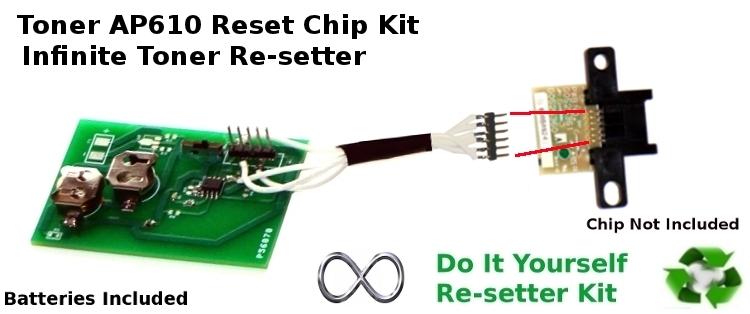 Toner Cartridge Ricoh Aficio AP610 400759 Infinite Reset